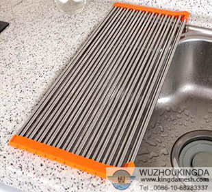 Stainless Steel Over The Sink Dish Drainer. Stainless Steel Wire Mesh  Perforated Metal Welded