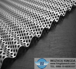 Perforated Corrugated Metal Sheet Perforated Corrugated