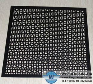 Perforated powder coated panels