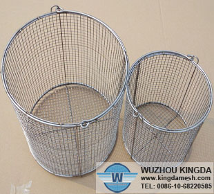 Round stainless steel wire mesh baskets,Round stainless steel wire ...