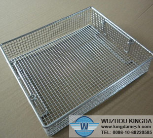 Wire Basket In Laboratory Wire Basket In Laboratory