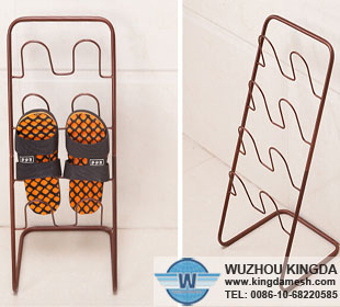 Metal wire shoe rack