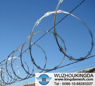 Stainless steel single coil razor wire