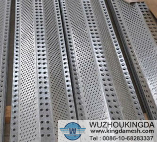 Anti-wind and dust perforated sheet