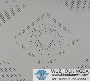 Micron hole perforated plate