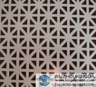 Decorative stainless steel perforated sheet