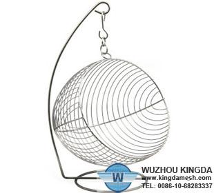 Hanging fruit wire basket