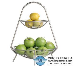 wire fruit basket tiered