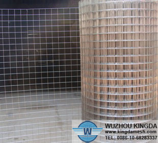 Steel welded wire mesh roll