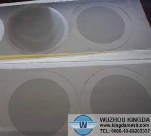 Stainless steel etched filter mesh