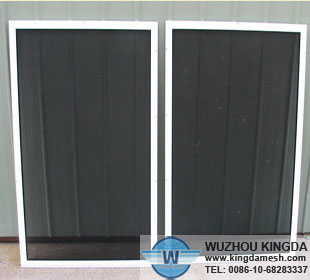Powder coated steel safe window screen