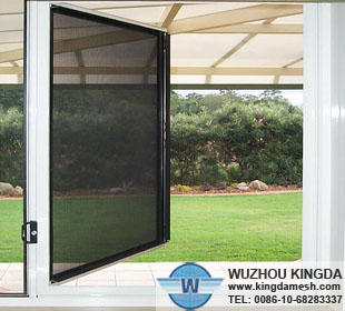 PVC coated steel safe window screen
