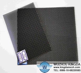 Black coated steel screen
