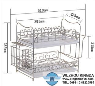 Large rust proof dish racks