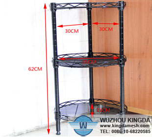 Round metal wire kitchen rack