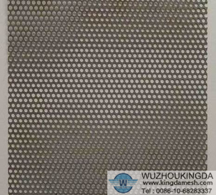 Perforated stainless steel mesh