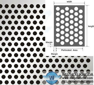 2mm hole size perforated metal