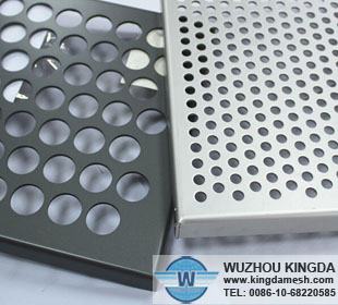 Decorative perforated aluminum sheeting