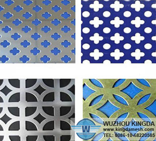 Metal sheets with hole patterns