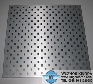 Perforated aluminum sheet square holes