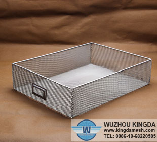 Wire mesh file basket