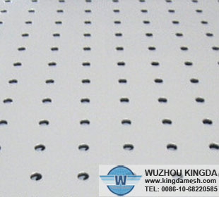 White deluxe perforated cloth