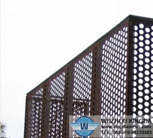 Perforated steel fencing