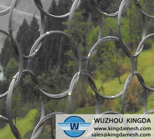 Ring net fence wire mesh
