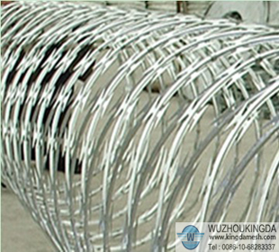 Anti climb spikes barbed razor wire