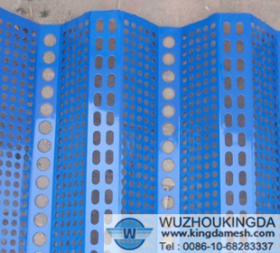 Anti-wind and dust perforated mesh