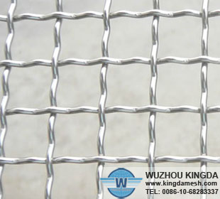 Electro galvanized crimped mesh