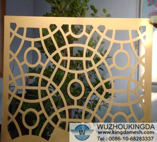 Decorative perforated screen