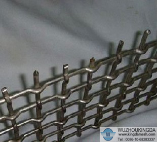 Pimple crimped mesh