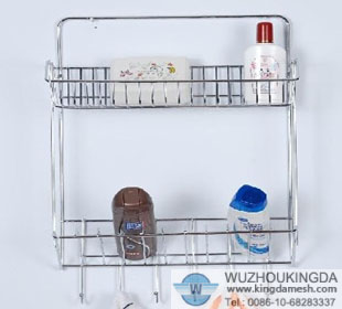Bathroom wall rack