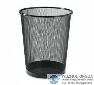 Large round wire waste basket