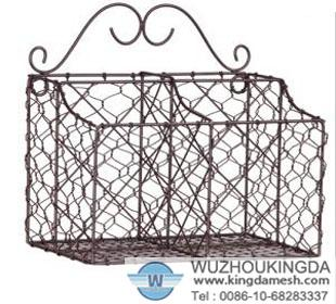 wire letter basket